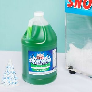4 1 Gallons Premium Carnival King State Fair Lemon Lime Snow Cone Syrup