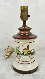 Antique Vintage Mid Century Light Ford S First Car Porcelain Table Lamp