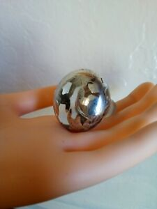 Sterling Silver Inlay Art Nouveau Victorian Glass Perfume Bottle Stopper Antique