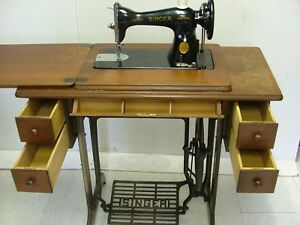 Antiques Treadle Singer Sewing Machine 1948 Model Class 15