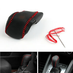 Genuine Leather Gear Shift Knob Cover Automatic For Buick Lacrosse 14 15 Blk Ua