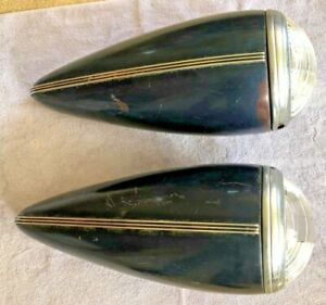 Vintage 1937 Buick Super 8 Headlights Complete Functional Excellent Shape
