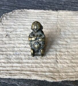 19th Cent Chinese Bronze Baby Boy Toggle Charm