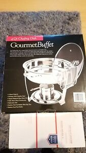 Gourmet Buffet Stainless Steel Chafer Chafing Dish Set 4 Qt Buffet Full
