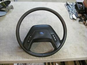 87 91 Ford Truck Bronco Factory Leather Steering Wheel Xlt Lariat