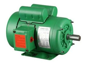 1hp Nema Farm Duty 1725rpm 143t Single Phase Ac Electric Motor Tefc 7 8 Shaft