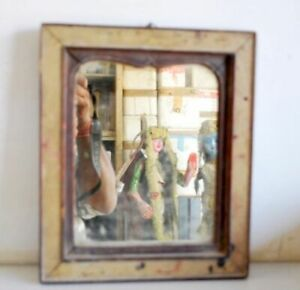 Vintage Beautiful Collectible Old Indian Wooden Frame Dressing Mirror
