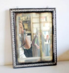 Vintage Collectible Old Indian Wooden Frame Beautiful Dressing Mirror