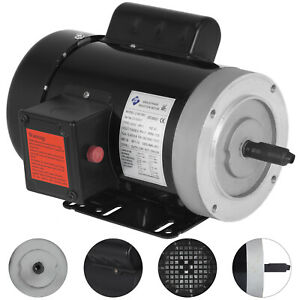 1 Hp Electric Motor 56c 1 Phase Tefc 1800rpm 115 230v Rigid Base Rated 1725rpm