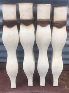 4 Vtg 19 5 16 Architectural Salvage Wood Bombay Serpentine Stool Table Legs Diy