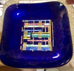 Square Enamel On Copper Dish With Rounded Corners 7 S X 1 Deep