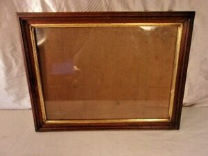 Antique Victorian Frame With Print 24 3 4 X 30 1 2 Holds 22x28 Molding 1 3 4