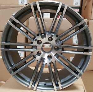 20 Rims Gunmetal Mach Wheels Tires Fit Porsche Cayenne S Turbo Hybrid Audi Q7