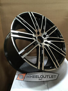 20 Rims Black Machined Wheels Tires Fit Porsche Cayenne S Turbo Hybrid Audi Q7