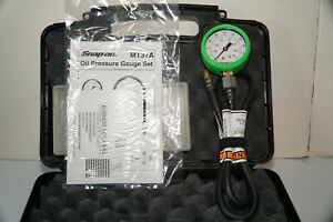 Snap On Oil Pressure Gauge Set Mt37a Excellent Cond free Shipping