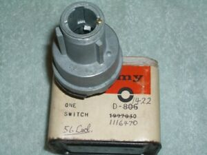 Nos Delco 1951 1956 Cadillac Ignition Switch 1116470 1116606
