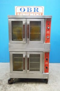 Vulcan Natural Gas Double Stack Convection Oven Model Sg4d