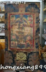 33 Tibet Silk Cloth 1000 Arms Avalokiteshvara Of Goddess Hanging Thangka Tangka