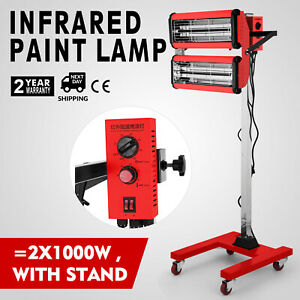 2x1000w Baking Infrared Paint Curing Lamp 602 With Stand Heating Filter Pro