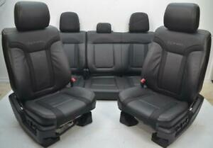 2009 2010 2011 2012 2013 2014 Ford F150 Raptor Front Rear Black Leather Seats