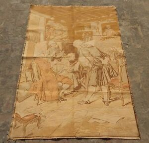 Vintage French Painting Tapestry 144x97cm A1181