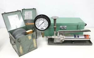 Ametek Model T Dead Weight Tester W Ashcroft 1305b100 2000 10000 Range Weights