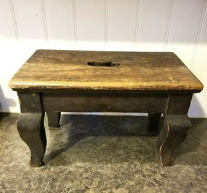 Antique Wooden Milking Footstool 15 X 9 X 9 5 Tall Vintage Wood Foot Step Stool