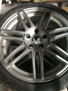 4 Enkei Racing 18 Rims 5x114 3 With Like New Continental Tires