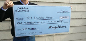 Large Dry Erase Blank Presentation Check Reusable Big Checks 18 X 36