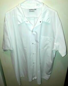 Chef Works Cool Vent Short Sleeve Uniform Snap Front Shirt White Size 2xl