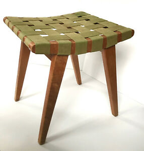 Rare Midcentury Ottoman By Jens Risom For Knoll Associates 1940 S