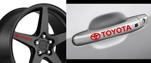 Toyota Decals For Wheels Rims And Door Handle 8pcs Stickers Yaris Celica Corolla