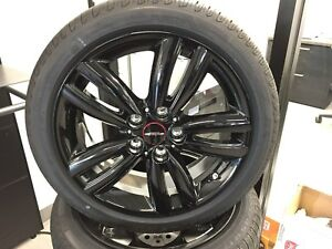 Mini Cooper Jcw 17 Style 562 Black Summer Complete Wheel Tire Set F55 F56 F57