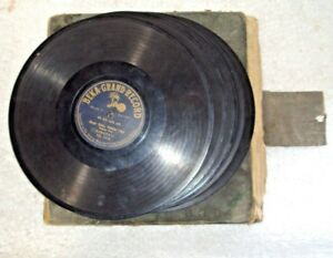 Old Indian Gramophone 5 Records Made In Germany Recorded In India