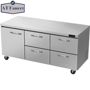 Blue Air Undercounter Work Top Refrigerator 73 With 4 Drawers 1 Door