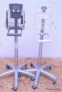 Lot Of 2 Medical Instruments Stand Pole Alaris Dinamap Welch Allyn