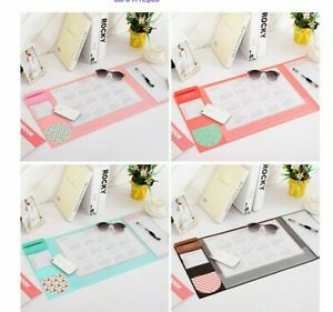Multi Functional Office Desk Calendar Mat Candy Color Desk Accessories Organizer