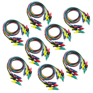 40 Crocodile Clips Cable Double ended Alligator Jumper Test Leads Cable 1m