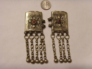 1700s Antique Rare Islamic Faith Religious Amulet Occult 2 Pendants Lot Fv449