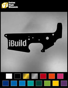 Ibuild Ar15 Builder Lower Decal Sticker
