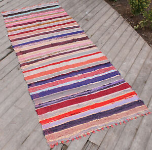 Turkish Kilim Rug 33 X79 Oriental Rag Rug Runner Kilim Colorful Hallway Rug