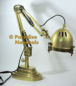 Vintage Brass Library Lamp Piano Bankers Light Ddy2