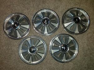 Oem Ford Set Of 5 14 Hub Caps Wheel Covers C6zz1130a 1966 Mustang 66