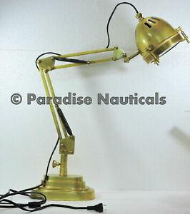 Vintage Brass Adjustable Desk Piano Bankers Lamp Ddy2