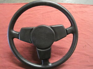 Porsche Vintage Steering Wheel 3 Spoke Black Leather Used German Original