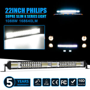 24 Inch 408w Led Light Bar Wiring Kit Spot Flood Combo Work Ute Truck Suv Atv