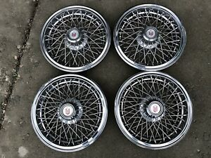 1978 1988 Gm Chevy Monte Carlo 14 Wire Hubcaps Wheel Covers Set Of 4 Used Oem