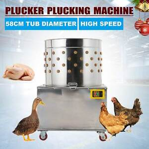 Electric Stainless Steel Poultry Plucker Chicken Duck Birds Plucking De feather