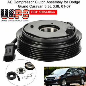 Ac A C Compressor Clutch Pulley Coil Fit For Dodge Grand Caravan 3 3l 3 8l 01 07