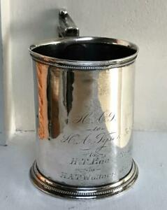 Early Gorham Coin Silver Cup Mug Ca 1856 Pattern 25 Reading Pa H A Tyson